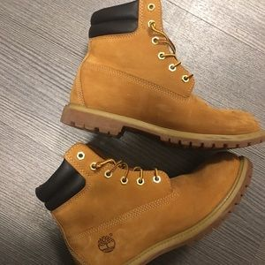 New timberlands. Only worn a few times.